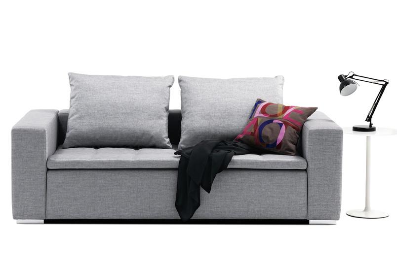 Mezzo modular sofa system shown in grey sazza fabric