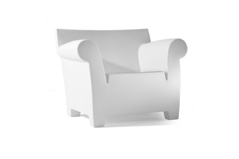 The chunky yet lightweight form of Philippe Starck's Bubble Club Sofa