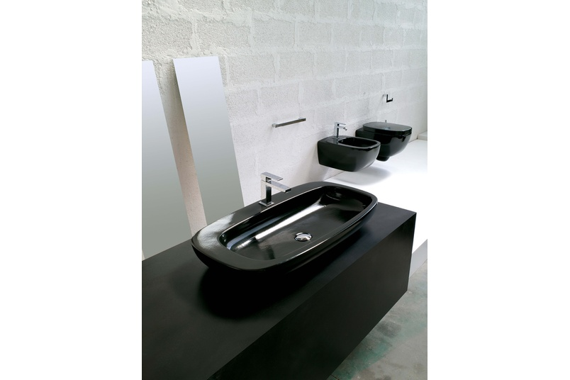 Dial black vessel basin