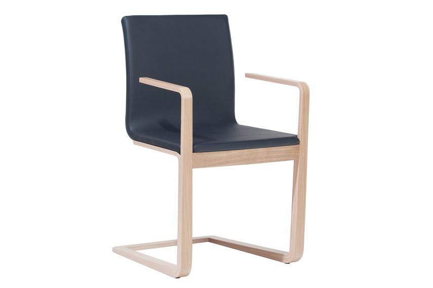 Upholstered Mojo chair.