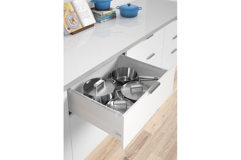 Harn Ritma Cube drawer HS model, includes extension side panel.