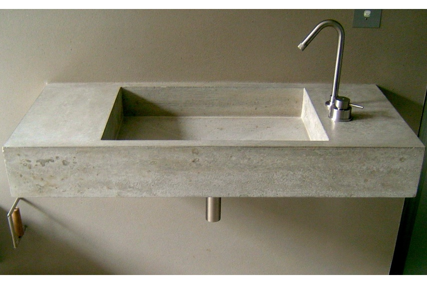 A bathroom basin by Terazzo + Stoneworks
