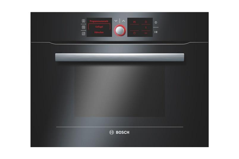 Black combination steam oven