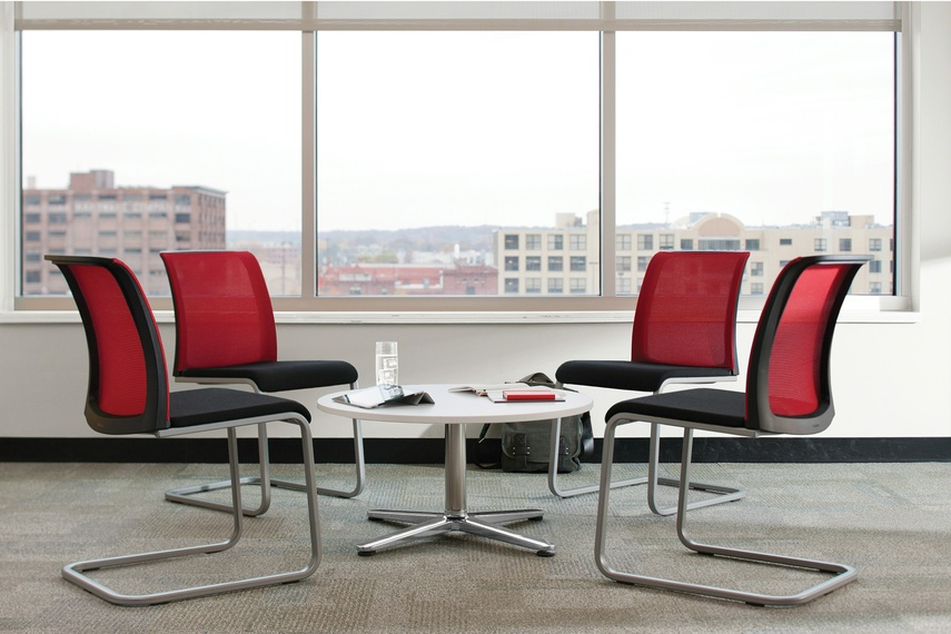 Reply chairs in a meeting environment.