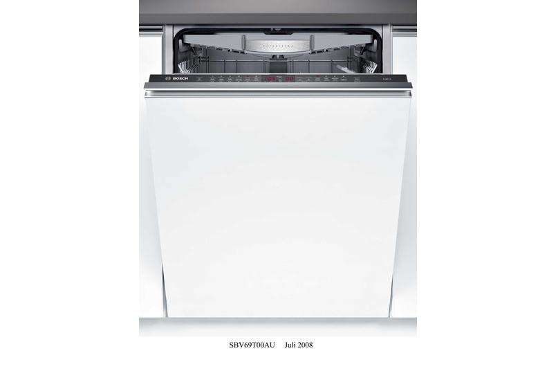 Stainless steel fully integrated dishwasher.