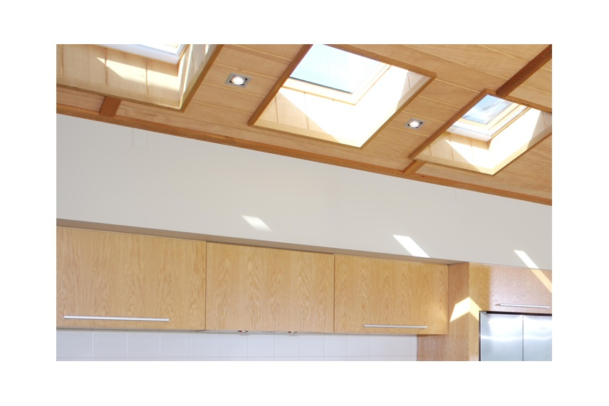Roof lights admit natural light and add height to a room