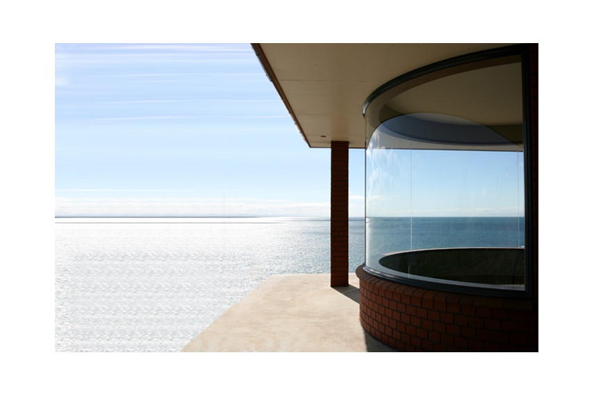 Curved windows maximise stunning panoramic views