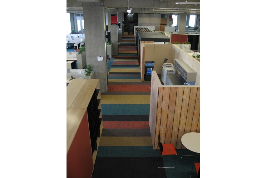 Equilibrium II carpet tile – main corridor showing colour