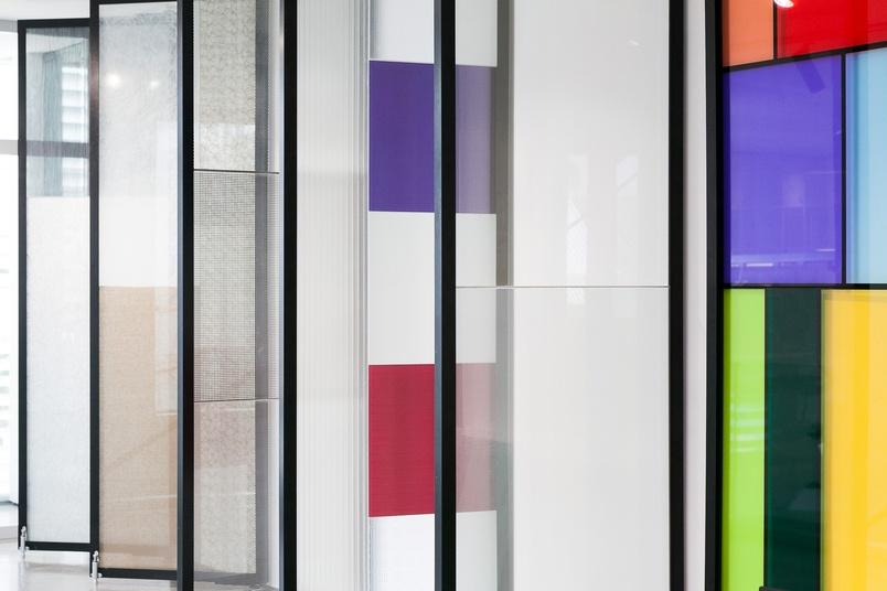 The Euroglass showroom