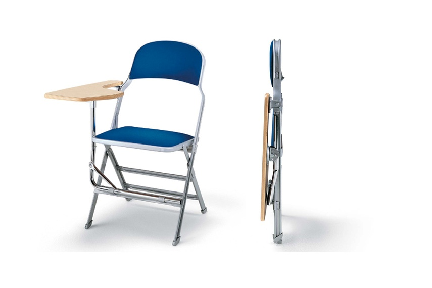 6417 SBWT – Folding tablet arm chair with padded seat and back available left or right handed