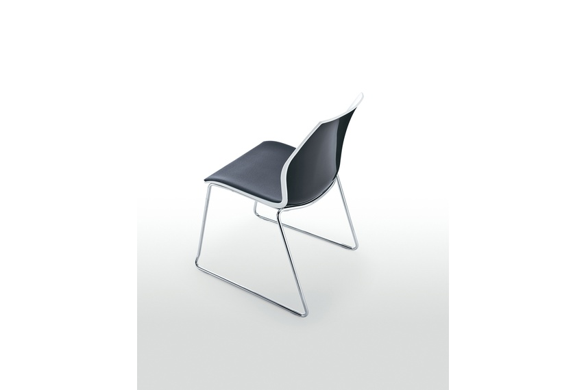 Kalea sled chair with padded seat.