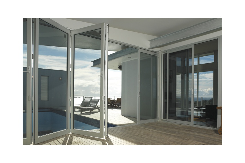 Bifold doors are available in many colours; from powdercoated through to anodised