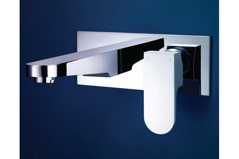Dorf Arc wall basin mixer