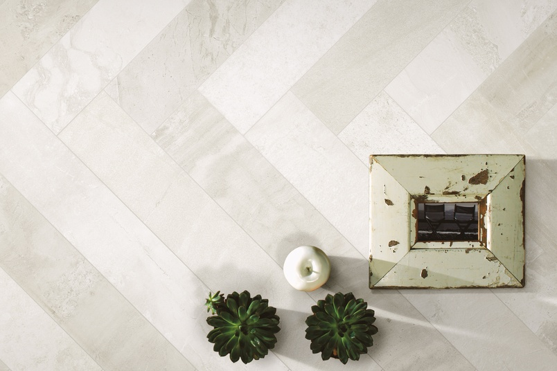 Burlington tiles in ivory doppia colour.