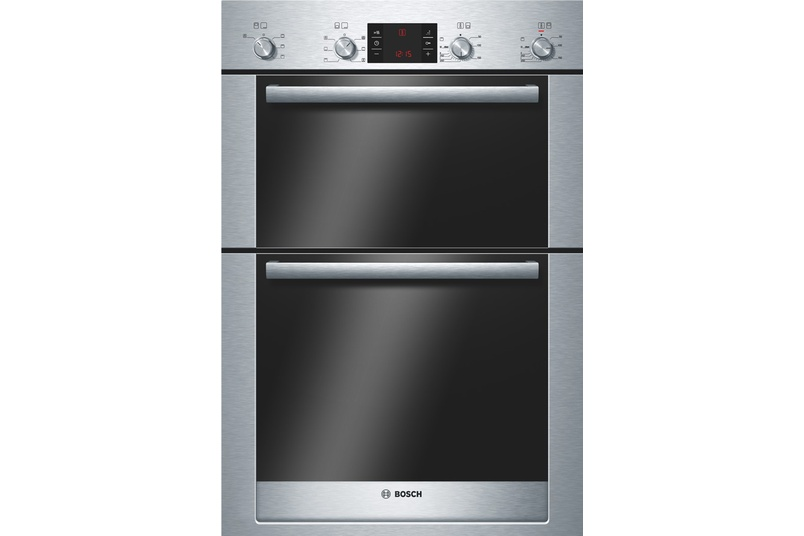 Built-in 60cm double oven.
