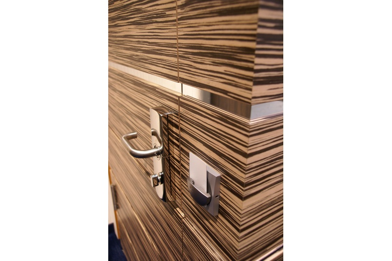 One of the 150 wood grain laminates from Abet Laminati presented by Design Laminates