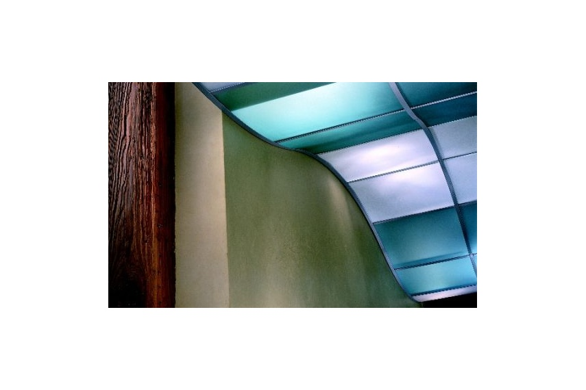 Translucents™ luminous Infill panels lay easily into standard USG systems for translucent look