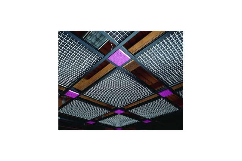 GridWare open cell decorative suspension system is a simple, creative, open-cell suspension system