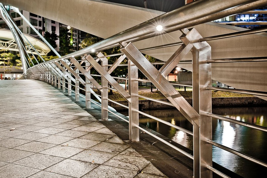 The minipucks can be installed in new handrails or retrofitted into existing handrails