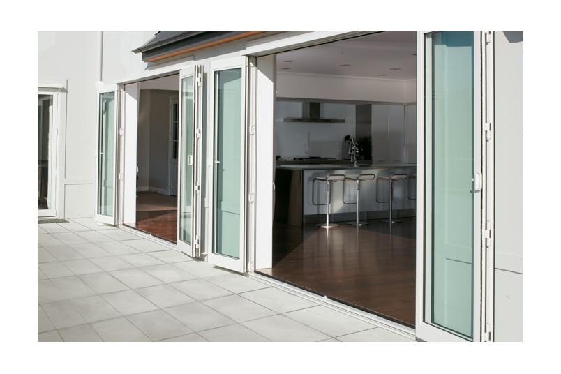 Foldback® bifold doors in Arctic White
