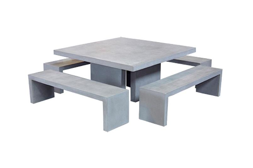 Concrete dining set