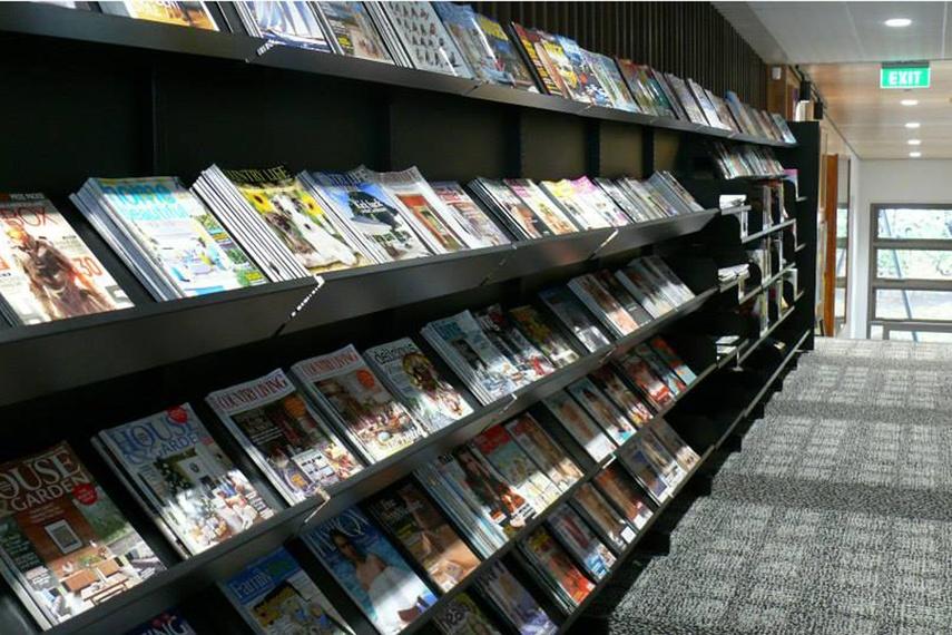 Devonport library magazine stand