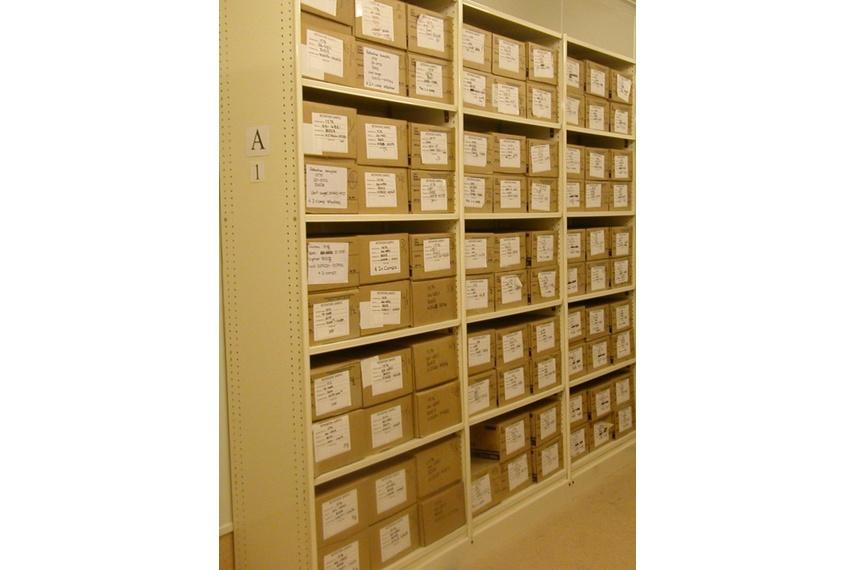 Archive boxes.