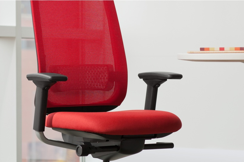 Reply task chair in red.