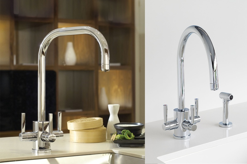 Perrin & Rowe Triflow kitchen taps - hot, cold and filtered water with optional spray rinse