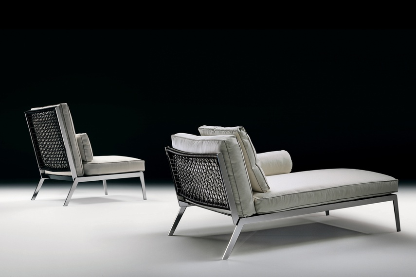 Happy designed by Antonio Citterio for Flexform, includes a feather-filled seat and back cushions