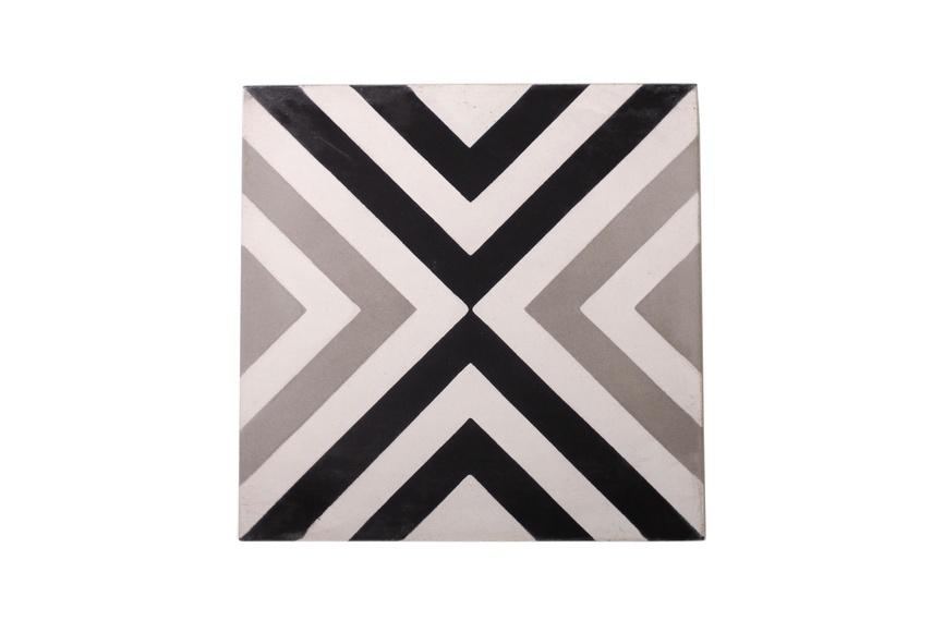 The Slim Crosseye encaustic tile by Gallery 4.