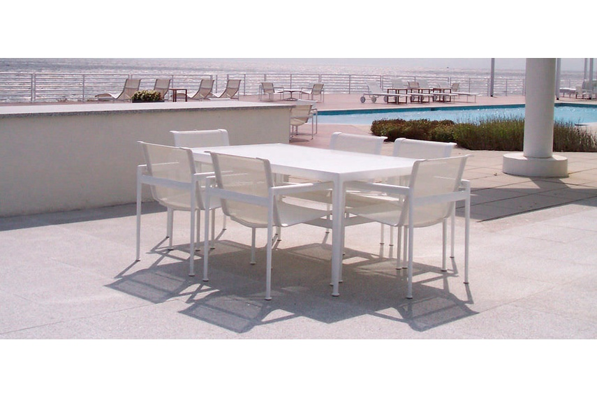Outdoor furniture that can withstand corrosive ocean air.