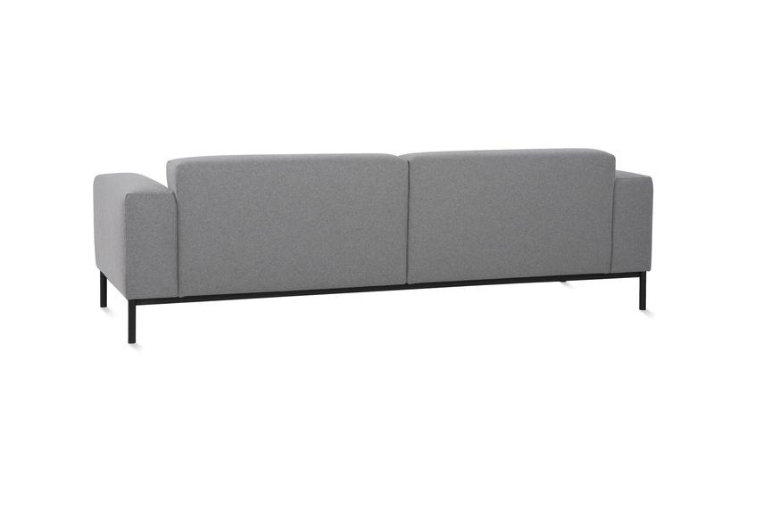 Back view of the Hem sofa.