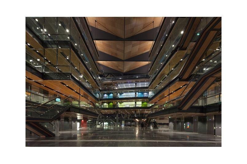 Firesafe MDF wall and ceiling panels were used in the Manukau Tertiary Centre