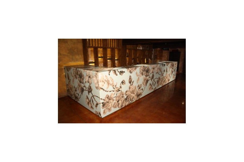 Custom designed Bisazza mosaic bar in Auckland