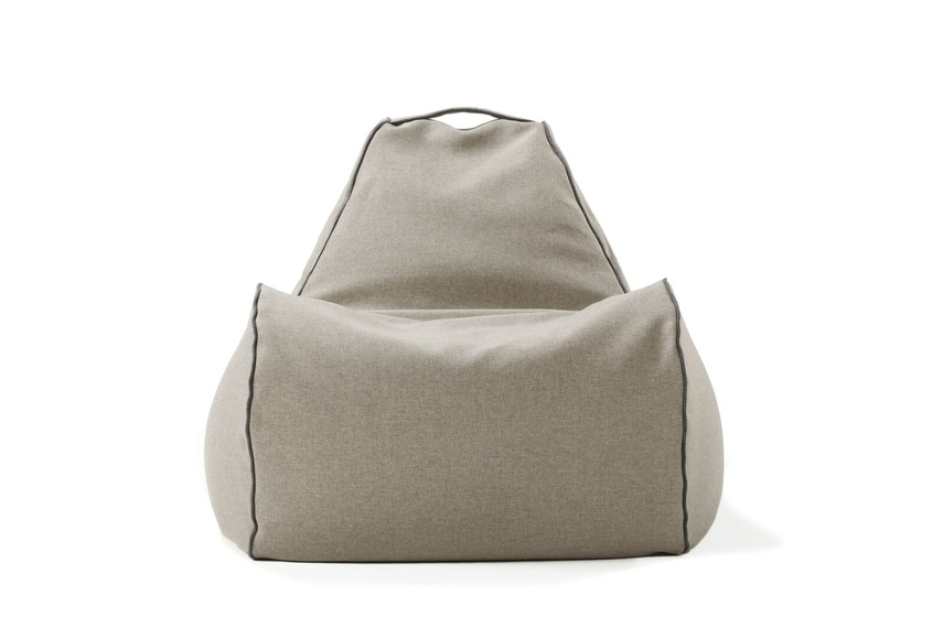 Tulum bean bag chair (indoor/taupe).