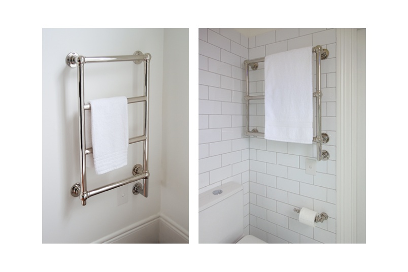 Hawthorn Hill traditional style towel warmers are available in custom sizes to suit any room