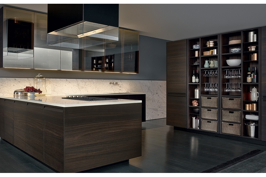 A modern, attractive and sleek kitchen.