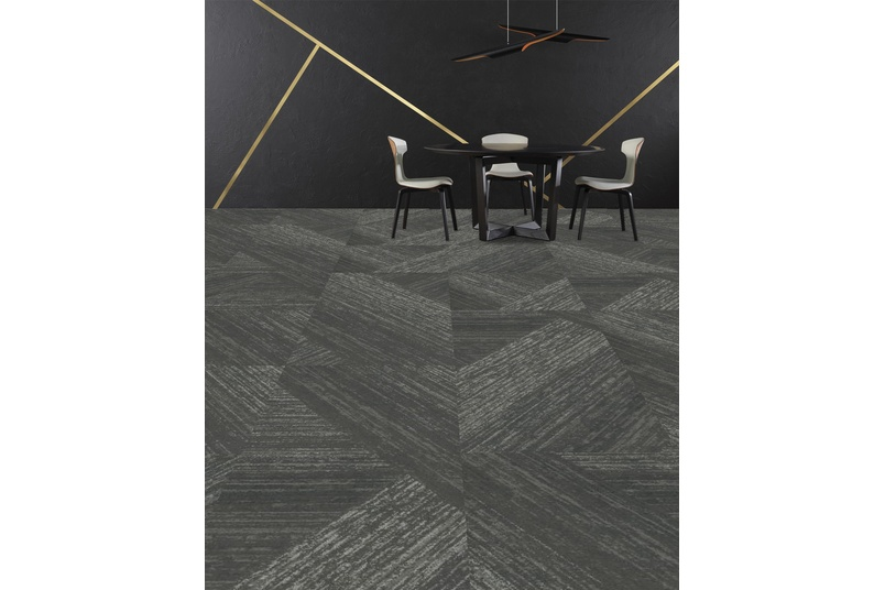 Alchemy carpet tile - Adds in detailed lustrous metallics to the Honed background, available in 9 colours.