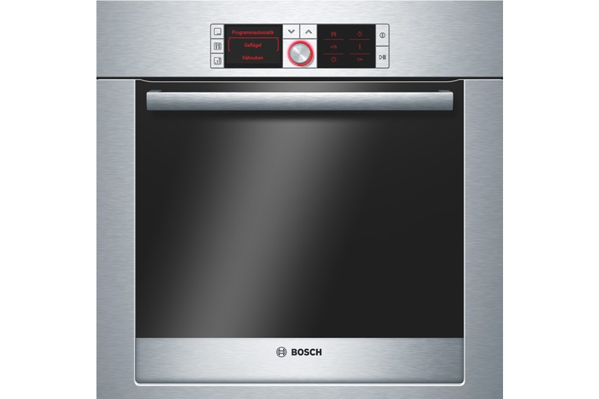 Stainless steel 60cm single oven.