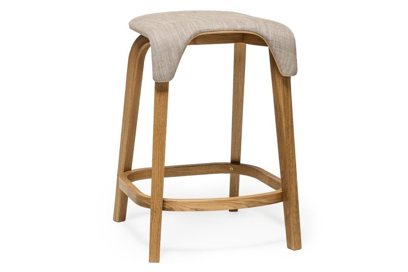 Upholstered Leaf bar stool.