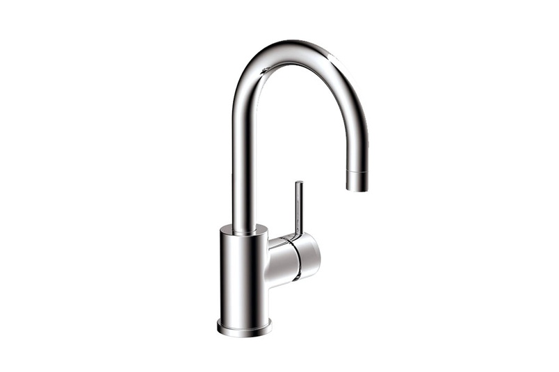 Rotunda goose-neck basin mixer.