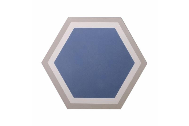 Trim Hex tile in blue.