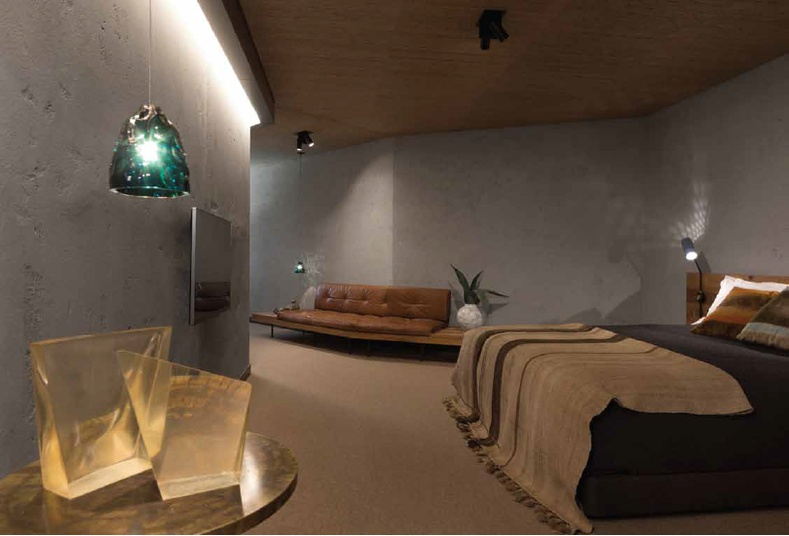 Lighting Basement Washroom Stairs: Earthen Natural Clay Finishes By Rockcote
