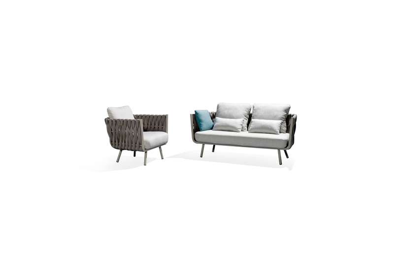 Tribu Tosca clubchair and sofa: 163cm.