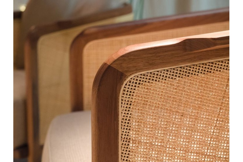 Detail of the Mondo armchair.