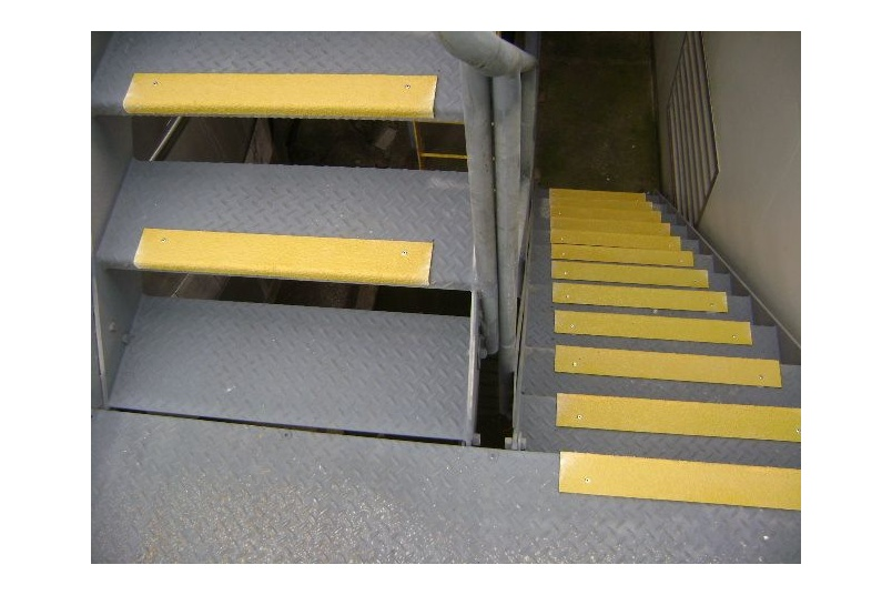 Stair nosings or covers are suitable for indoor or outdoor use
