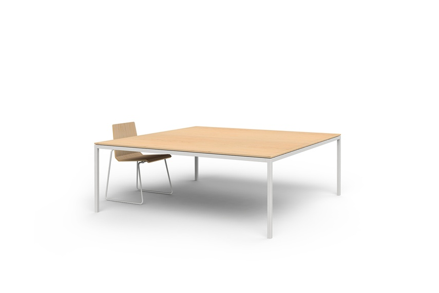 The table comes in a range of sizes and finishes