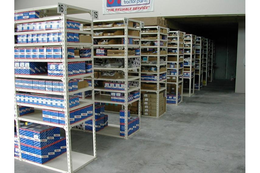 Parts storage system at Fleet Marine.